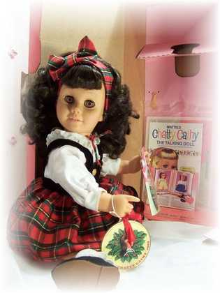 Mattel's Holiday Chatty Cathy Reproduction Complete Talking